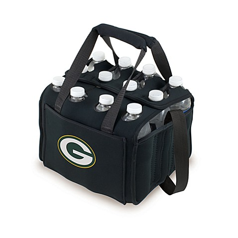 Picnic Time 12-Pack Insulated Drink Tote - Green Bay Packers (Black)