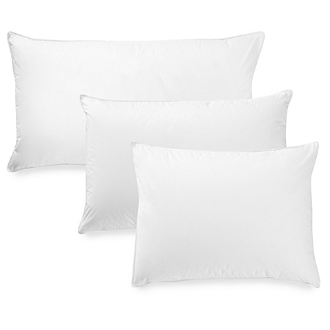 Seasons Collection® Luxury Batiste White Goose Down Back/Stomach Sleeper Pillow