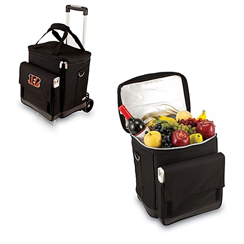 Picnic Time® Cincinnati Bengals Cellar with Trolley Insulated Cooler