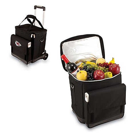 Picnic Time® Cellar with Trolley Insulated Cooler in Kansas City Chiefs