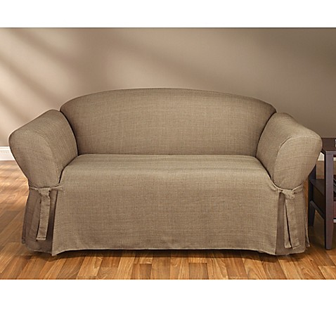 Sure Fit® Mason Relaxed Fit Sofa Slipcover in Cocoa