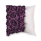MYOP 3D Rose Swirl 20-Inch Square Toss Pillow Cover in Purple