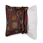 MYOP Seventies Flowers 20-Inch Square Toss Pillow Cover in Brown