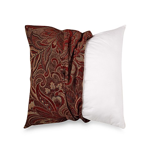Throw Pillow Covers Bed Bath Beyond : Make-Your-Own-Pillow McQueen Square Throw Pillow Cover in Red - Bed Bath & Beyond
