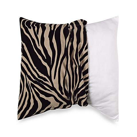 MYOP 20-Inch Square Toss Pillow Cover in Zebra