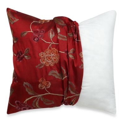 MYOP Covent Gardens 20-Inch Square Toss Pillow Cover in Red/Gold