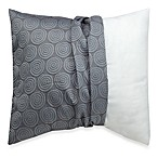 MYOP Spiral Circles 20-Inch Square Toss Pillow Cover in Blue