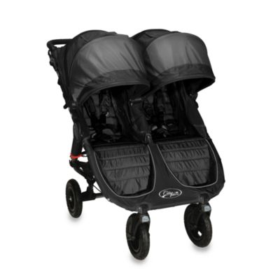 Baby Jogger™ City Mini GT Double Stroller and Accessories in Shadow/Black