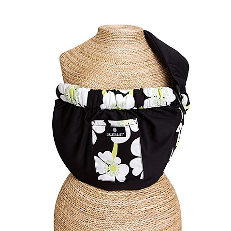 Balboa Baby® Dr. Sears Adjustable Sling in Black with Lime Poppy Trim