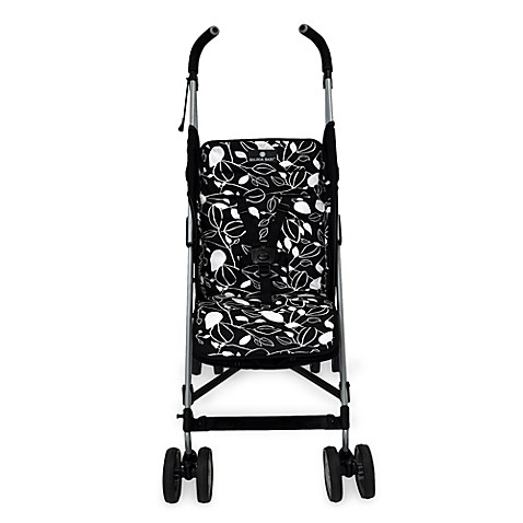 Balboa Baby® Stroller Liner in Black & White Leaf