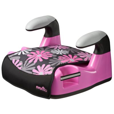Evenflo Big Kid AMP No Back Booster Car Seat in Retro Flowers
