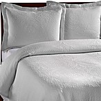 Vue™ Royal Medallion Matelasse Coverlet, 100% Cotton - White