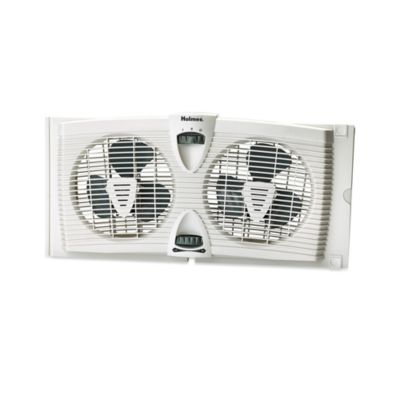 Holmes® Dual Blade Twin Window Fan with Thermostat