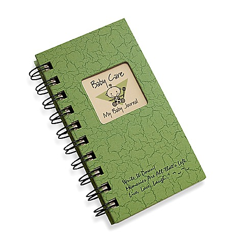 Baby Care Ins & Outs Journal in Green
