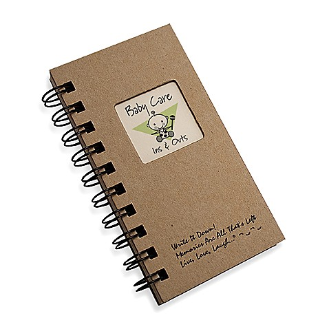 Baby Care Ins & Outs Journal in Brown