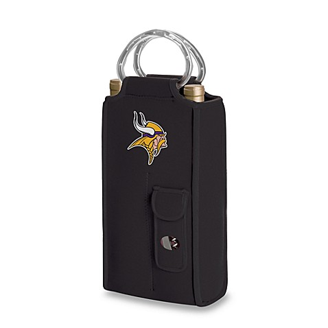 Brunello Minnesota Vikings Insulated Wine Tote - Black