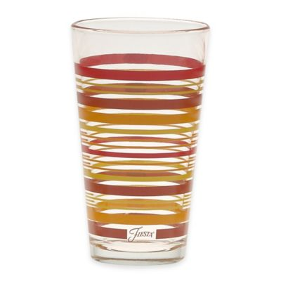 Fiesta® Multi-Color Stripe 15-Ounce Double Old Fashioned Glass
