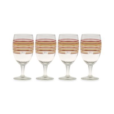 Fiesta® Multi-Color Stripe 16-Ounce All-Purpose Goblets (Set of 4)