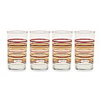 Fiesta® Multi-Color Stripe 7-Ounce Juice Glasses (Set of 4)