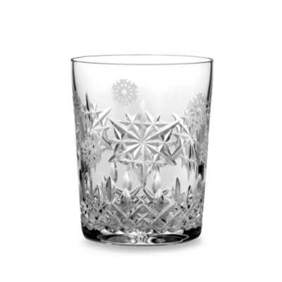 Waterford® Crystal Snowflake Wishes 2011 1st Edition Joy Lismore Double Old Fashioned