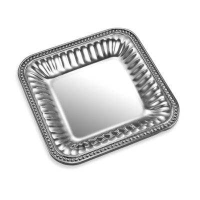 Wilton Armetale® Flutes & Pearls™ 9-Inch Square Tray