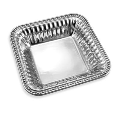 Wilton Armetale® Flutes & Pearls™ 9-Inch Square Bowl