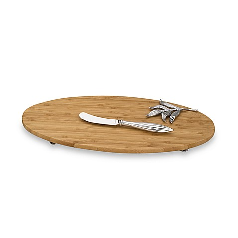 Reed & Barton®  Bamboo Garden Bamboo Cheese Tray with Spreader