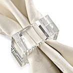 Oleg Cassini Pure Napkin Rings (Set of 4)