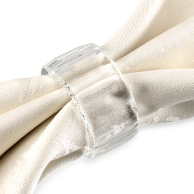 Oleg Cassini Jackie Napkin Rings (Set of 4)