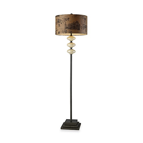 Dimond Lighting Brantley Cream & Matte Grey Floor Lamp