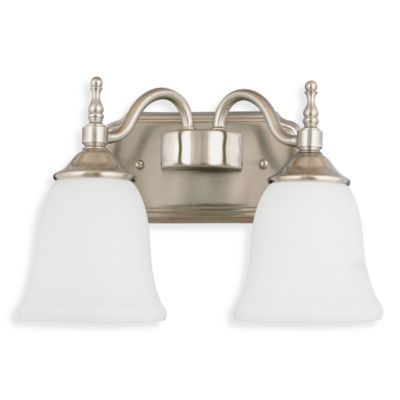 Bathroom. Two Light Fixture