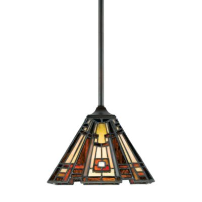 Quoizel® Classic Craftsman 1-Light Mini Pendant in Valiant Bronze
