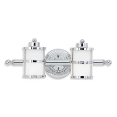 Quoizel Tranquil Bay 2-Light Bath Fixture in Polished Chrome