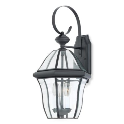 Quoizel® Sussex 3-Light Outdoor Wall Lantern in Mystic Black