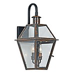 Quoizel ® Lighting Rue de Royal 2-Light Outdoor Wall Lantern in Aged Copper