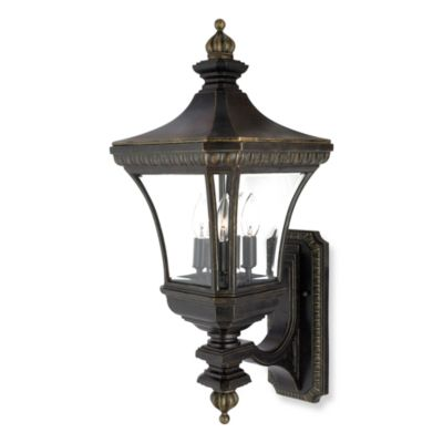 Imperial Bronze Devon 3-Light Outdoor Fixture
