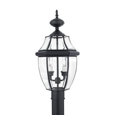 Quoizel® Newberry 2-Light Outdoor Post in Mystic Black