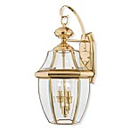 Newbury 2-Light Outdoor Fixture in Polished Brass