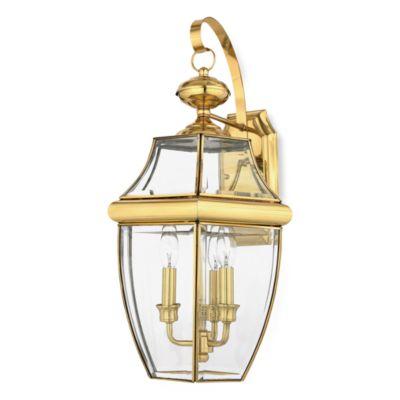 Quoizel® Newbury 3-Light Outdoor Fixture in Polished Brass