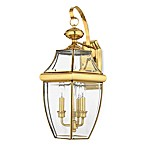 Quoizel® Newbury 3-Light Outdoor Fixture in Polished Brass