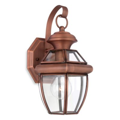 Classic Newbury Aged Copper Outdoor Light Fixture