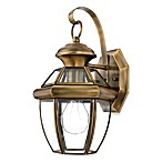 Quoizel® Newbury Small 1-Light Outdoor Wall Fixture in Antique Brass