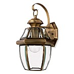 Quoizel Antique Style Newbury Wall Fixture with Elegant Brass Finish