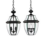 Quoizel Newbury Hanging Outdoor Lantern in Mystic Black