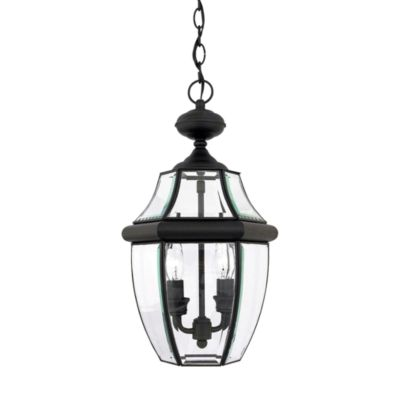 Quoizel Newbury 2-Light Hanging Outdoor Lantern in Mystic Black