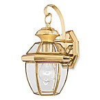 Small Newbury 1-Light Outdoor Fixture in Polished Brass