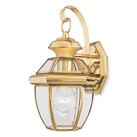 Buy Quoizel Newbury Small 1 Light Outdoor Wall Fixture In Polished Brass From Bed Bath Beyond