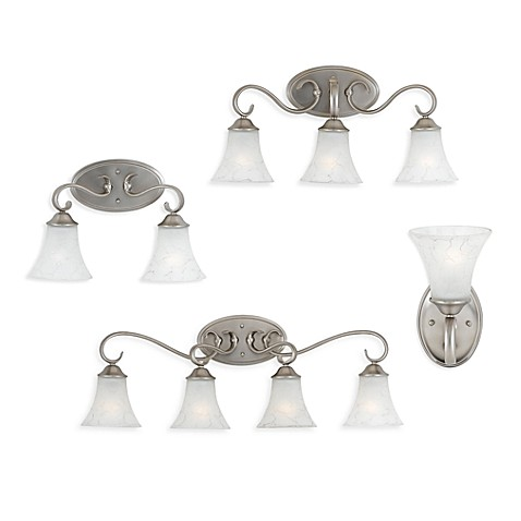 Dutchess Bath Light Fixtures With Antique Nickel Finish
