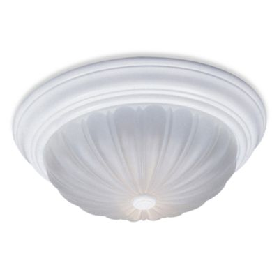 Quoizel 2-Light Flush Mount Fixture with Melon Glass and Fresco Finish
