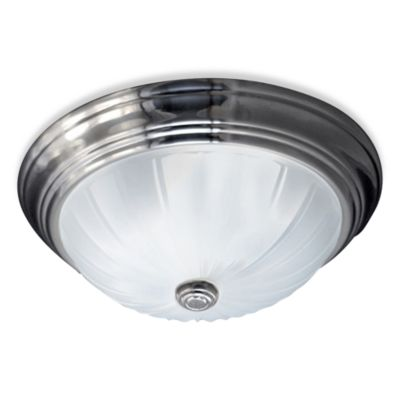 Quoizel® Melon 1-Light Flush Mount in Empire Silver
